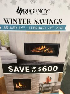 flyer for fireplace promotion