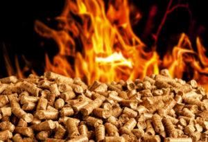 pellet stove burning