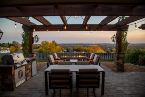outdoor patio with furniture